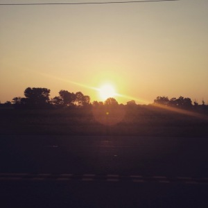 sunrise on the way to belleplain